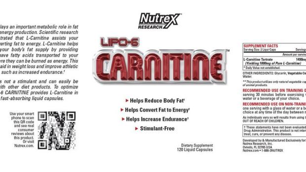 Nutrex lipo 6 L carnitine supplement