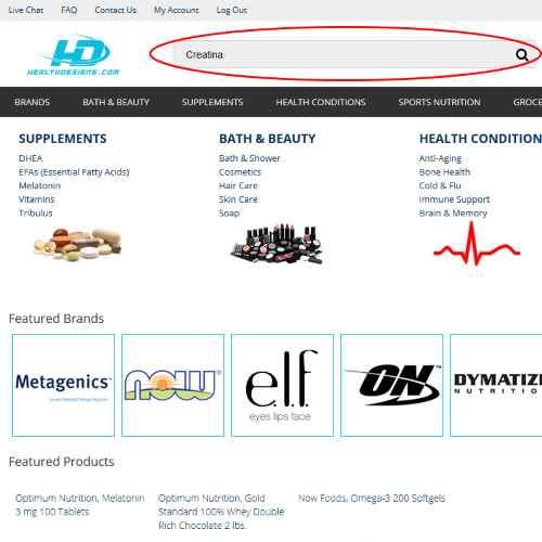 Como comprar suplementos no site HealthDesigns 2