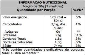 Composição 100% Pure Whey Protein Probiótica