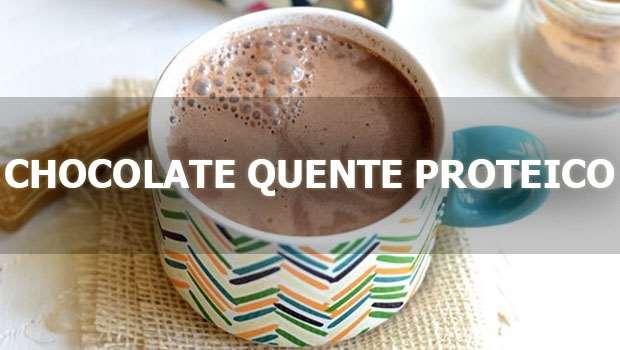 Receita de Chocolate Quente Proteico