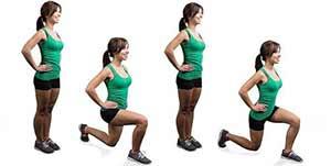 Avanço Livre exercícios com o peso corporal para definir as pernas